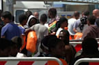 Raw: Rescued Migrants Arrive in Italy
