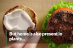 This meaty, bloody burger is actually meatless