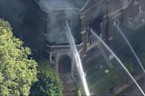 Raw: Fire Erupts at West Philadelphia Church