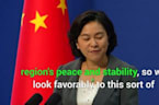 China Hopes US-India Military Deal Will Be 'Constructive' For Regional Stability