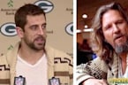 Aaron Rodgers Goes As 'The Dude' To Press Conference, Breaks Record