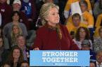 Clinton Hits Trump, Takes Aim at GOP Voters