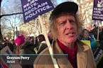 Grayson Perry, Will Arnett and Sophie Walker join Women's March in London – video