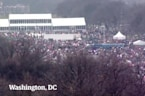 Aerial footage shows thousands at women's marches around the US