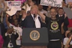 """Trump invites eager supporter on stage, hailing him """"a star"""""""