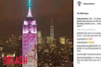 Blake Shelton Reacts to Gwen Stefani's Empire State Building Display