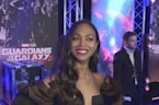 Zoe Saldana on getting paid to flirt with Chris Pratt