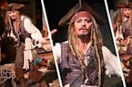 Johnny Depp Takes Over Pirates Of the Caribbean At Disneyland
