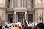 Protesters Rally Against SB4 Outside Texas State Capitol in Austin