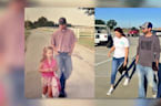Father Walks Daughter to School on First Day of Kindergarten, Last Day of High School