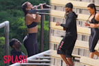 Kim Kardashian Does Killer Park Workout With Her Trainer