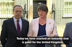 DUP's Foster welcomes deal with Theresa May's Conservatives