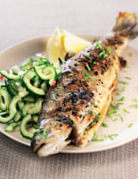 Trout with Cucumber Relish