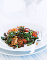 Chicken Pimenton with Puy Lentils
