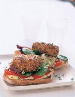 Griddled Chicken Burgers