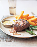 Fillet Steak with Tapenade Sauce