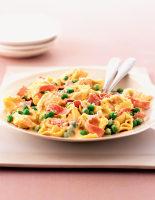 Tortellini with Creamy Ham & Peas