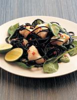 Black Pasta with Monkfish