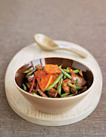 Lamb with Sweet Potatoes & Beans