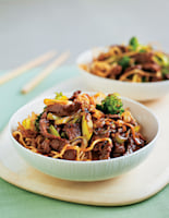Crispy Noodles with Beef