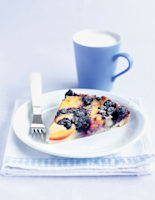 Blueberry & Peach Pudding