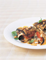 Aubergine Parcels with Pine Nuts