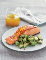 Seared Salmon with Avocado Salad