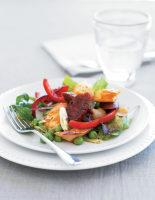 Crispy Salt Cod & Chorizo Salad