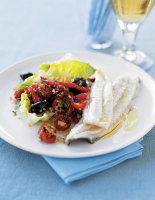 Dover Sole with Bulgar Wheat Salad