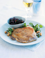 Skate with Chickpeas & Olive Sauce