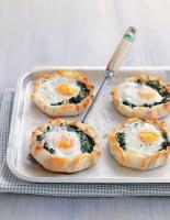Freeform Spinach, Feta & Egg Tarts