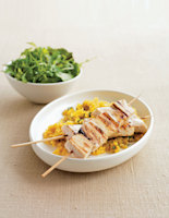 Swordfish Brochettes & Lemon Rice