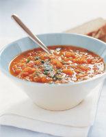 Spicy Coriander & Lentil Soup