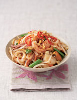 Thai Fried Noodles with Seafood