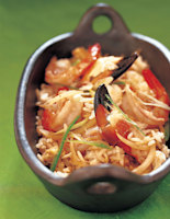 Fried Rice with Prawns & Crab