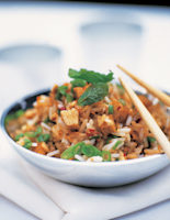 Fried Rice with Beans & Bean Curd