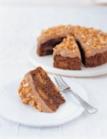 Chocolate, Courgette & Nut Cake