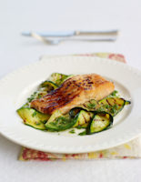 Salmon with Courgettes