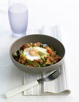 Aubergines with Baked Eggs