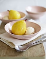 Poached Pears in Ginger Wine
