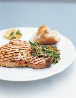 Quick Tuna Steak with Green Salsa