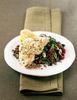 Crunchy Swordfish with Puy Lentils