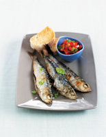 Grilled Sardines with Tomato Salsa