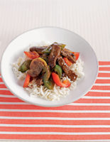 Ginger Beef with Peppers