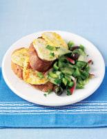 Haloumi with Cucumber Salad