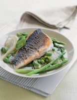 Vegetable Broth & Sea Bass