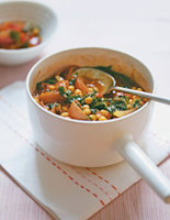 Spiced Chickpeas with Kale