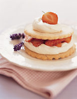 Strawberry & Lavender Shortcakes
