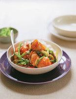 Chilli Scallops with Gai Lan