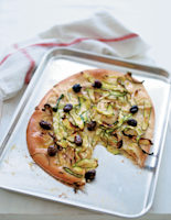 Courgette & Olive Flatbreads